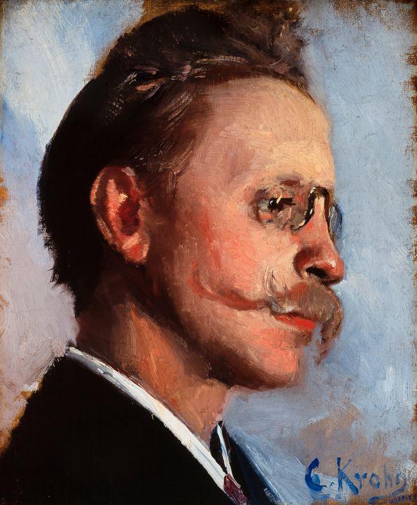 Christian Krohg~Otto Benzon - Old master image