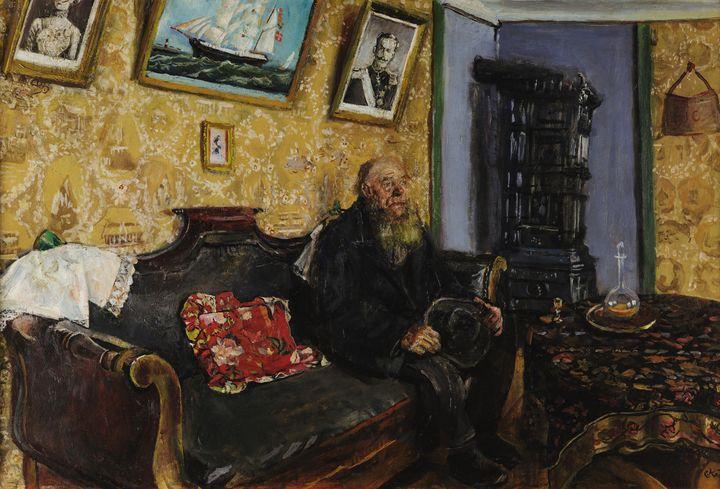 Christian Krohg~Visita di condoglian - Old master image