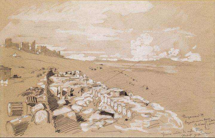 Christian Wilberg~Byzantine wall, si - Old master image