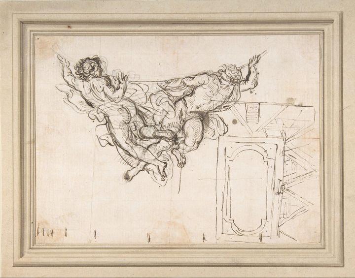 Carlo Maratta~Study for Nude Male Fi - Old master image