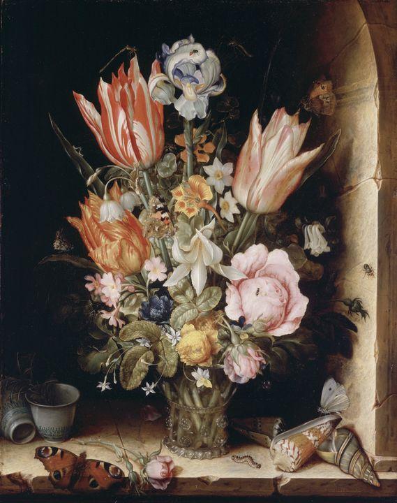 Christoffel van den Berghe~Still Lif - Old master image