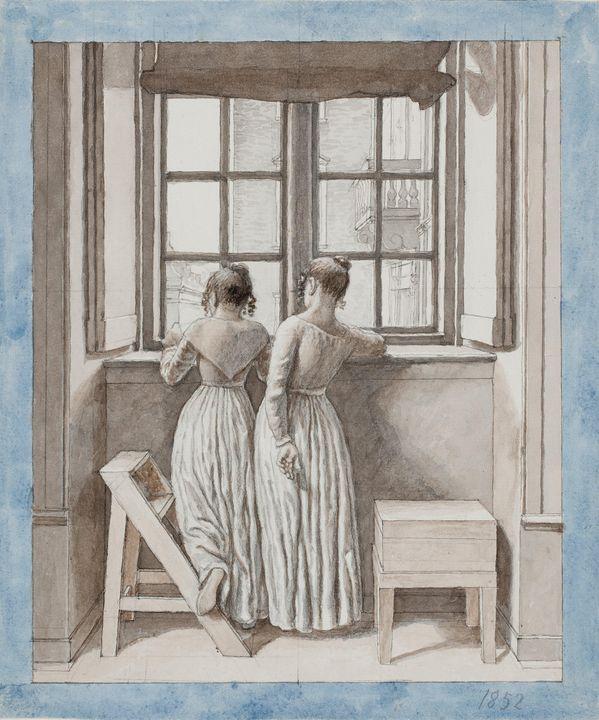 Christoffer Wilhelm Eckersberg~At a - Old master image