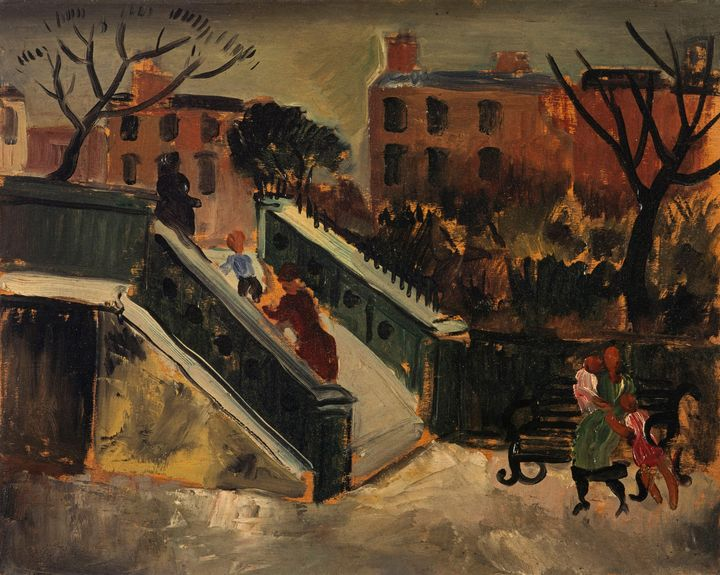 Christopher Wood~The Steps, Chelsea - Old master image
