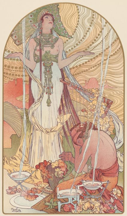 Alphonse Mucha~Incantation (Salammbo - Old master image