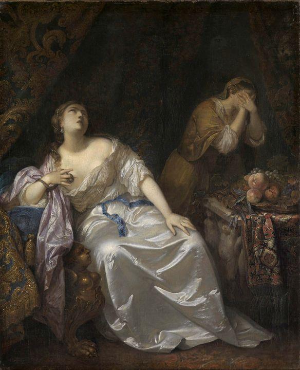 Caspar Netscher~Death of Cleopatra - Old master image