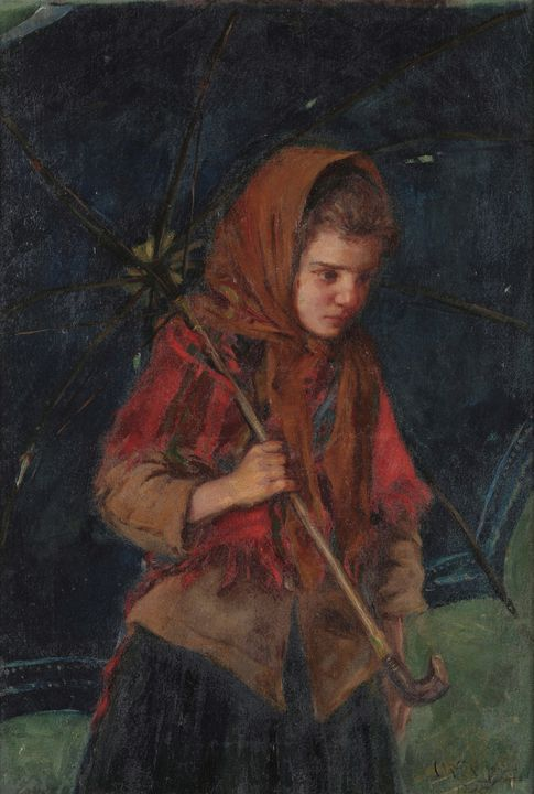 António Carneiro~Porto seamstress - Old master image