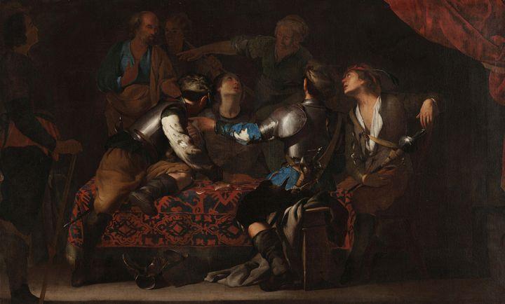 Bernardo Cavallino~The Denial of St. - Old master image