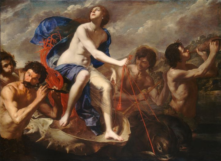 Bernardo Cavallino~The Triumph of Ga - Old master image