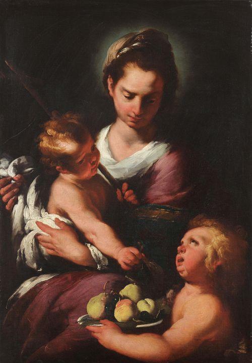 Bernardo Strozzi~The Virgin and Chil - Old master image