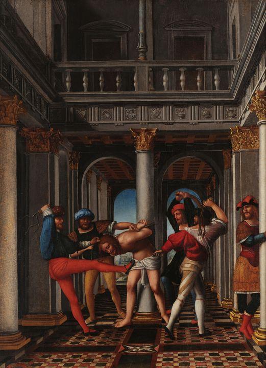 Bernardo Zenale~Flagellation - Old master image