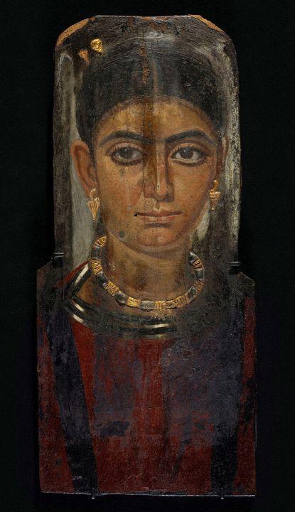 130 C.E. - 161 C.E.~Portrait of a Wo - Old master image