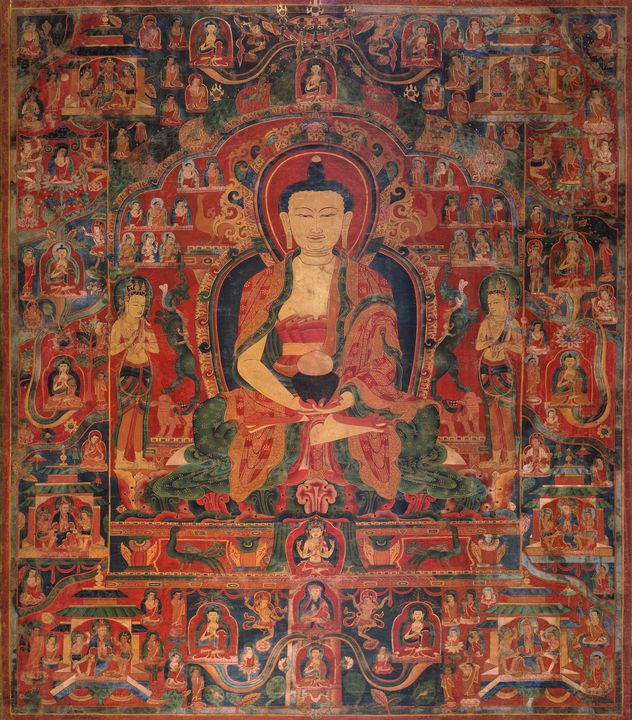 14th century~Amitabha Buddha in his - Old master image