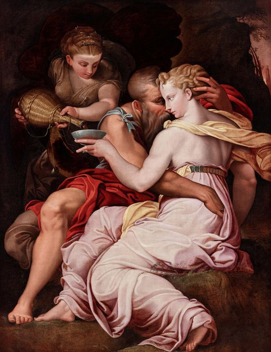16th century~Lot and His Daughters - Old master image