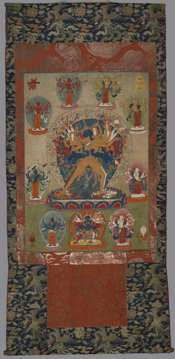 17th century~Kalachakra and his Core - Old master image