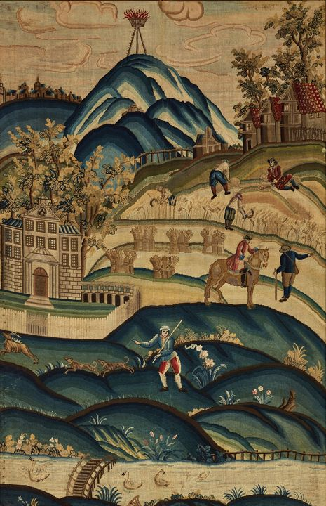 18th century~Needlework panel - Old master image