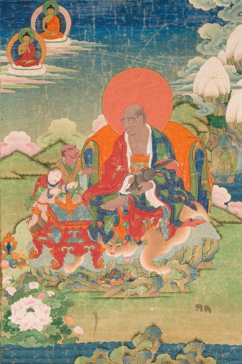 18th-20th century~Arhat Bakula - Old master image
