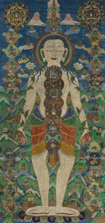 19th Century~Cosmic man of the Jain - Old master image