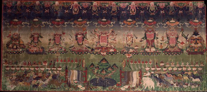 19th century~Nine Diety Offering - Old master image