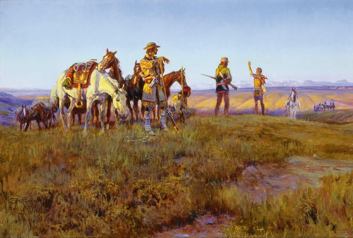 Charles Marion Russell~Wildmans Truc - Old master image