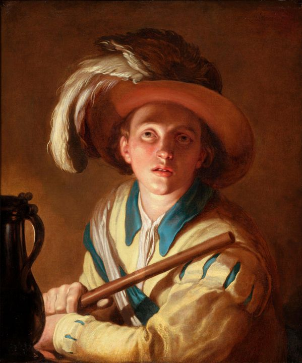Abraham Bloemaert~The flute player - Old master image