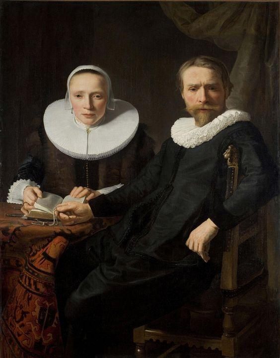 Abraham de Vries~A Double Portrait - Old master image