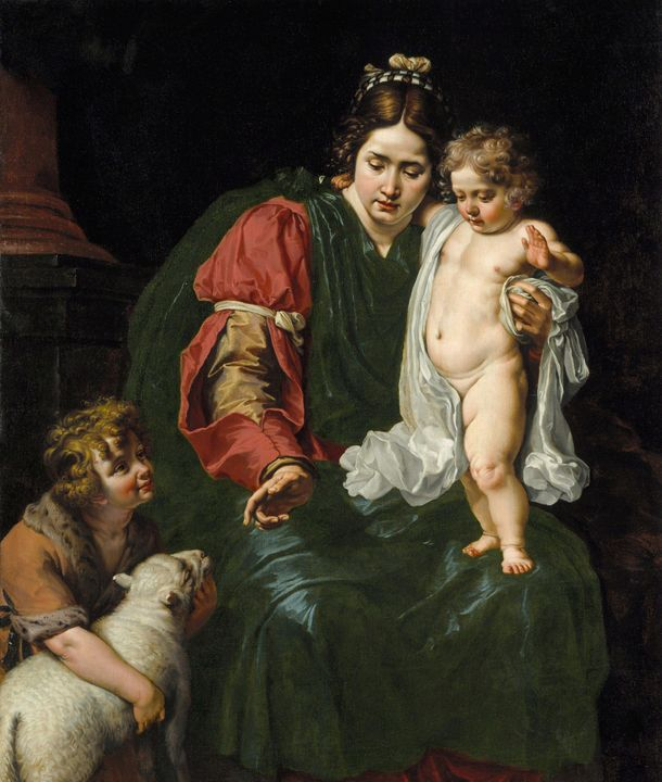 Abraham Janssens~The Virgin and Chil - Old master image