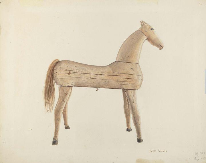 Adele Brooks~Hobby Horse - Old master image