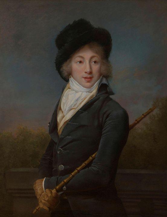 Adele Romany~Portrait of Auguste Ves - Old master image
