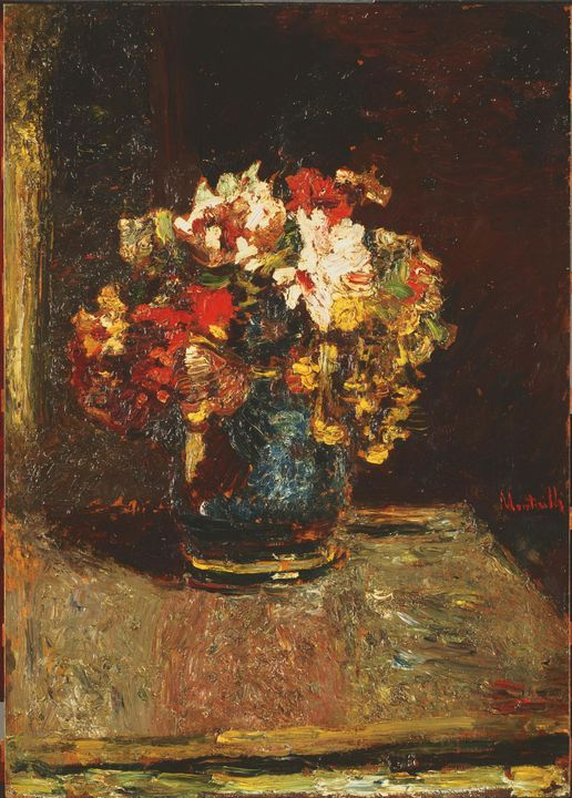 Adolf Monticelli~Bouquet - Old master image