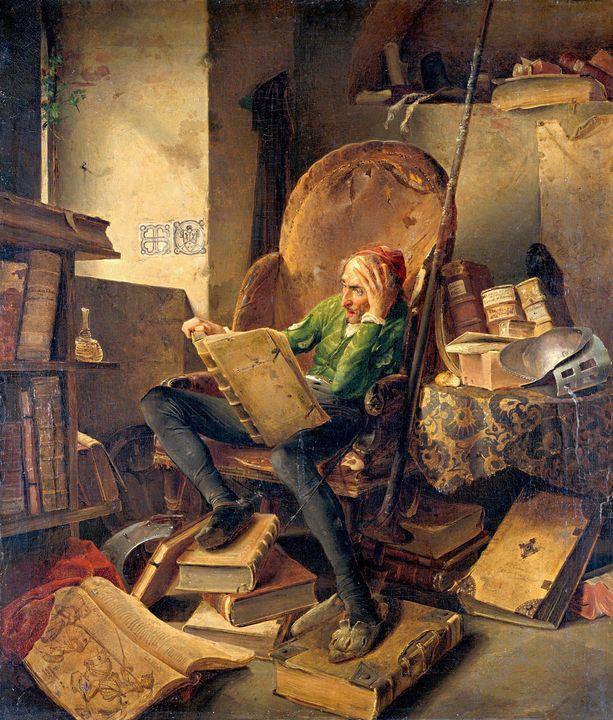 Adolf Schrodter~Don Quichotte, in an - Old master image