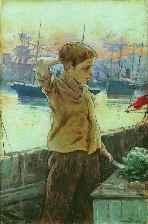 Adolfo Guiard~El cho (The Ship's Boy - Old master image