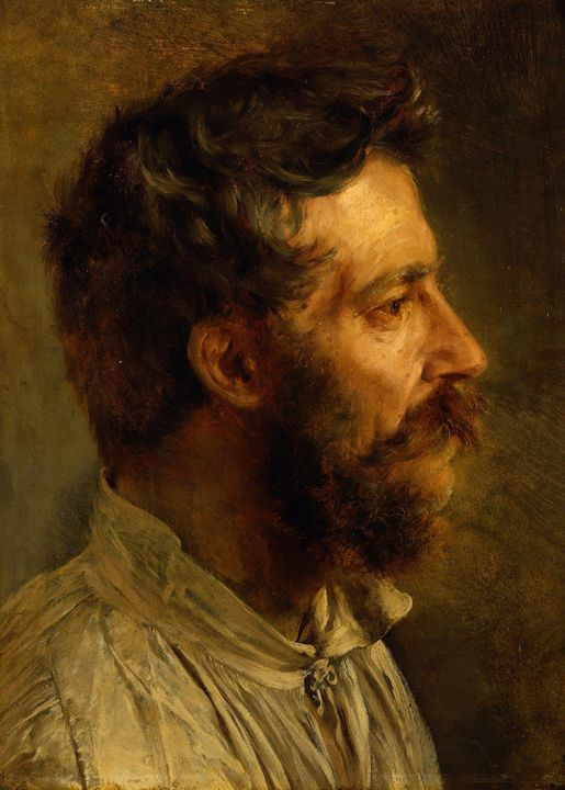 Adolph Menzel~Bearded workers head i - Old master image