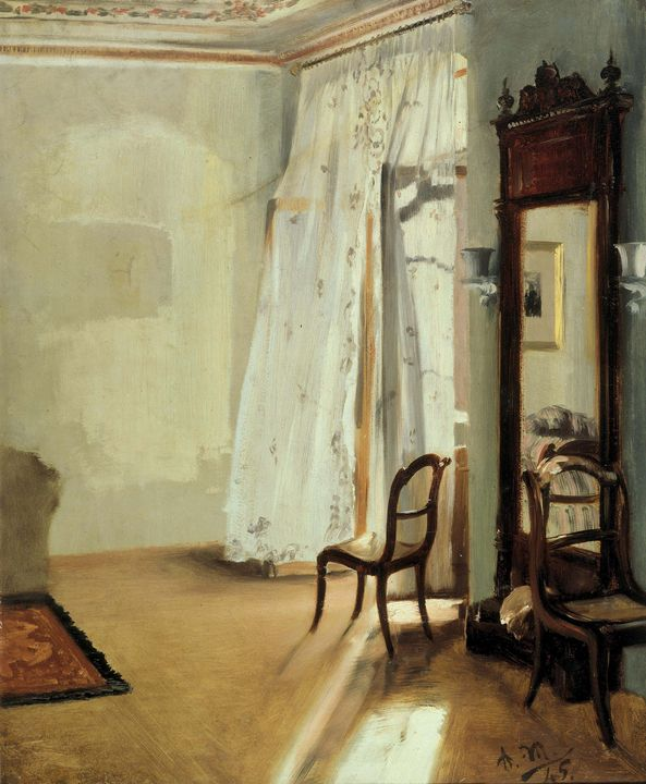 Adolph Menzel~The Balcony Room - Old master image