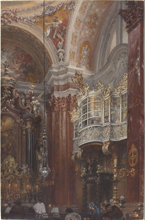 Adolph Menzel~The Interior of the Ja - Old master image