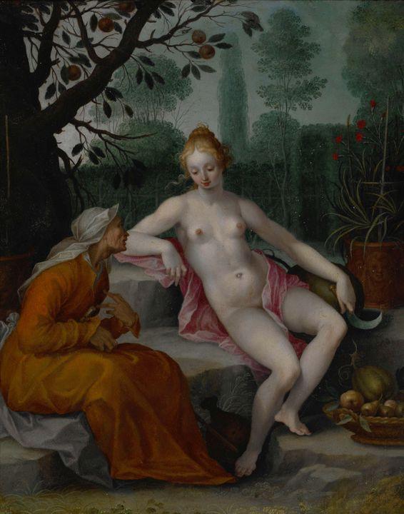 Abraham Bloemaert~Vertumnus and Pomo - Old master image