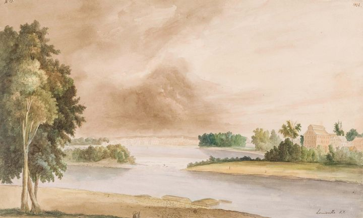 Adrien Mayers~View of Louisville, Ke - Old master image