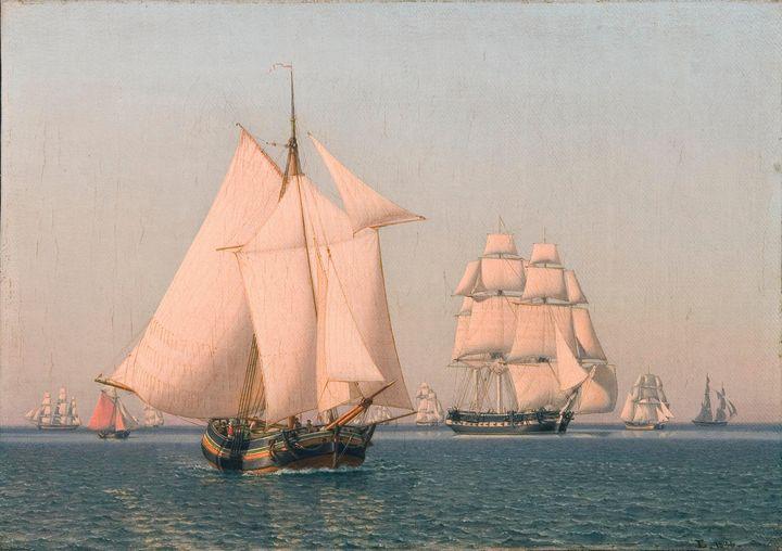 Christoffer Wilhelm Eckersberg~Ships - Old master image