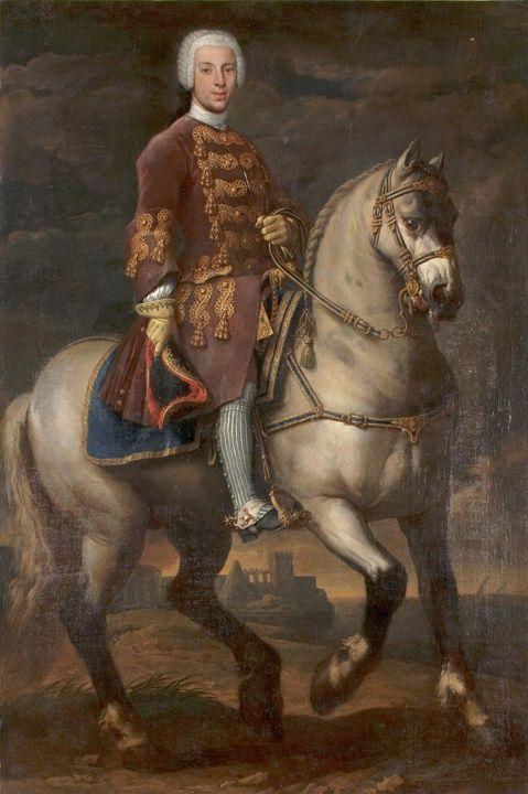 Agostino Masucci~Equestrian portrait - Old master image