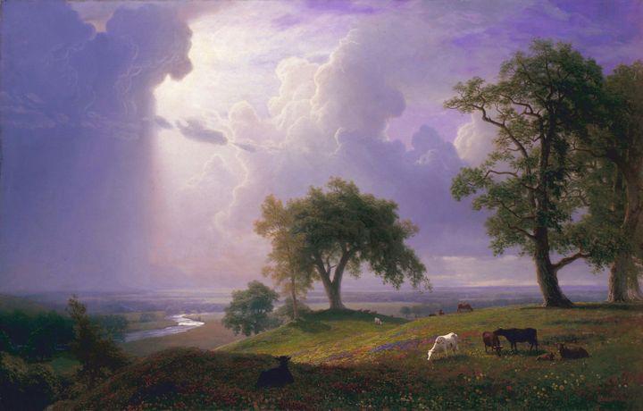 Albert Bierstadt~California Spring - Old master image