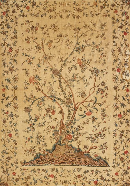 about 1770~bed spread  palampore - Old master image