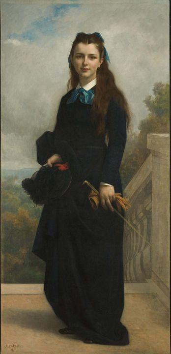 Alexandre Cabanel~Portrait of Miss C - Old master image