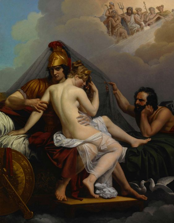 Alexandre Charles Guillemot~Mars and - Old master image