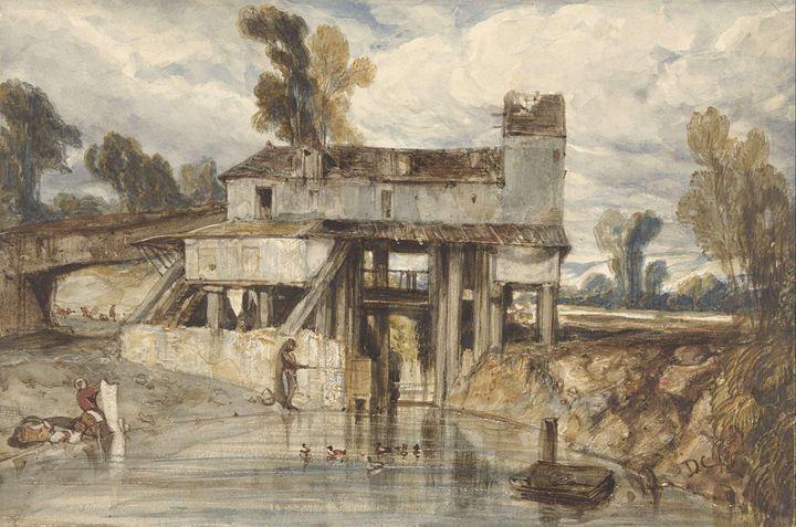 Alexandre-Gabriel Decamps~Landschap - Old master image