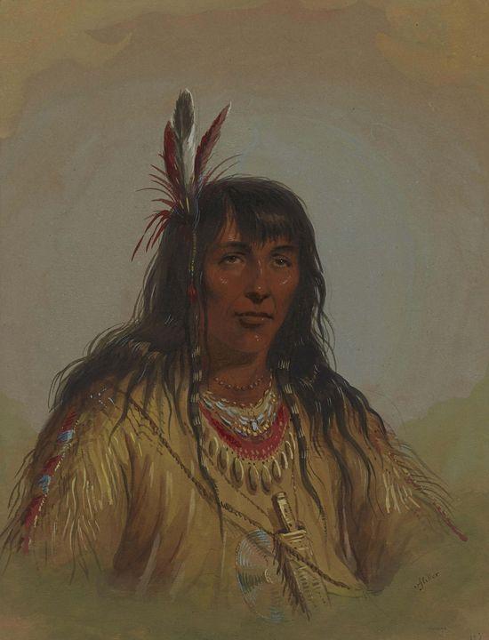Alfred Jacob Miller~Bannock Indian - Old master image
