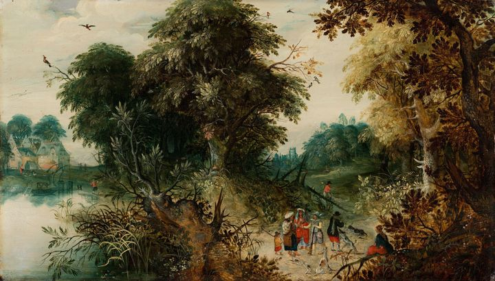 Abraham Govaerts~Forest View with Tr - Old master image