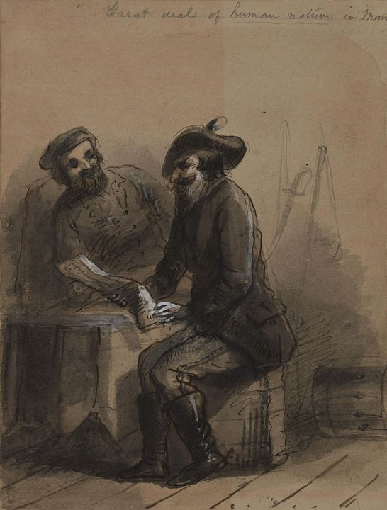 Alfred Jacob Miller~Great Deal of Hu - Old master image
