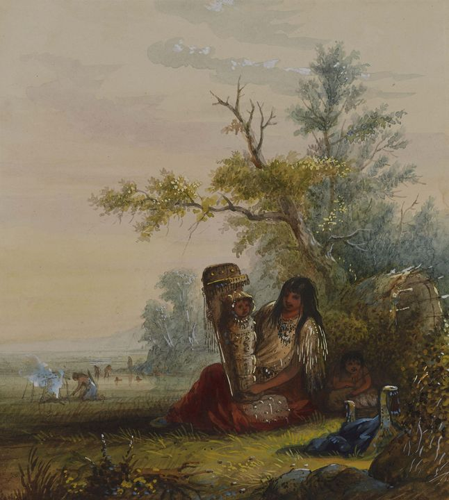 Alfred Jacob Miller~Group of Indian - Old master image