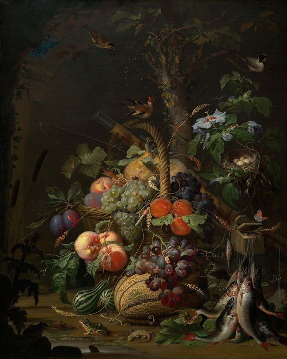 Abraham Mignon~Still Life with Fruit - Old master image
