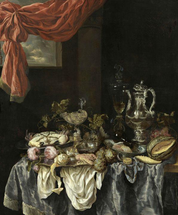 Abraham van Beijeren~Sumptuous Still - Old master image