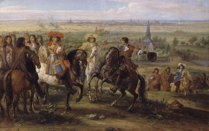 Adam Frans van der Meulen~Louis XIV - Old master image